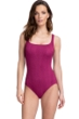 Gottex Essentials Cosmos Cherry Textured Square Neck One Piece Swimsuit