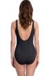 Gottex Essentials Cosmos Black Textured Mastectomy High Neck One Piece Swimsuit