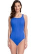 Gottex Essentials Cosmos Periwinkle Textured Mastectomy High Neck One Piece Swimsuit