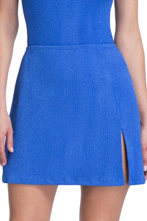 Gottex Essentials Cosmos Periwinkle Textured Cover Up Side Slit Skirt