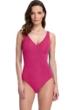 Full Coverage Gottex Essentials Deep Dive Raspberry Surplice High Back One Piece Swimsuit