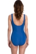 Full Coverage Gottex Essentials Deep Dive Blue Square Neck High Back One Piece Swimsuit