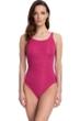Gottex Essentials Deep Dive Raspberry Mastectomy High Neck One Piece Swimsuit