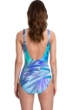 Gottex Essentials Desert Sky Blue V-Neck Surplice One Piece Swimsuit
