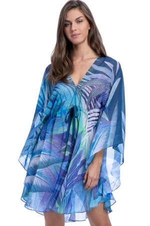 Gottex Essentials Desert Sky Blue V-Neck Caftan