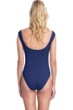Gottex Collection Elle Navy Off the Shoulder High Leg One Piece Swimsuit