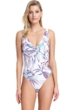 Gottex Collection First Bloom V-Neck Underwire One Piece Swimsuit