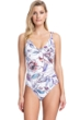 Gottex Collection First Bloom D-Cup Surplice One Piece Swimsuit