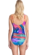 Full Coverage Gottex Contour Indian Summer Square Neck High Back One Piece Swimsuit