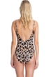 Gottex Contour Kenya Brown Gold Chain Lingerie One Piece Swimsuit