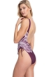 Gottex Collection Lily Wine Scoop Neck High Leg Underwire One Piece Swimsuit