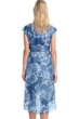 Gottex Collection Lily Dusk Blue Tie Front Long Surplice Wrap Dress