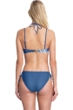 Gottex Collection Lily Dusk Blue Strappy Bandeau Strapless Bikini Top with Matching Mid Rise Hipster Bikini Bottom