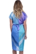 Gottex Collection Modern Art Blue Kimono with Belt