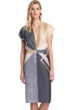 Gottex Collection Modern Art Grey Kimono with Belt
