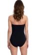 Gottex Essentials Mirage Black Bandeau Strapless One Piece Swimsuit