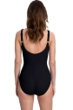 Full Coverage Gottex Essentials Mirage Black Square Neck High Back One Piece Swimsuit