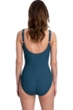 Full Coverage Gottex Essentials Mirage Teal Square Neck High Back One Piece Swimsuit