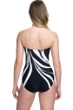 Gottex Essentials Midnight Rose Black and White Bandeau Strapless One Piece Swimsuit