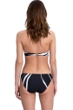 Gottex Essentials Midnight Rose Black and White Bandeau Push Up Underwire Bikini Top with Matching Classic Mid Rise Hipster Bikini Bottom
