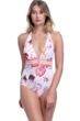 Gottex Collection Paradise Peach Halter V-Neck One Piece Swimsuit
