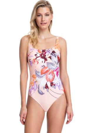 Gottex Collection Paradise Peach Square Neck One Piece Swimsuit