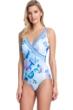 Gottex Collection Paradise Blue Surplice One Piece Swimsuit