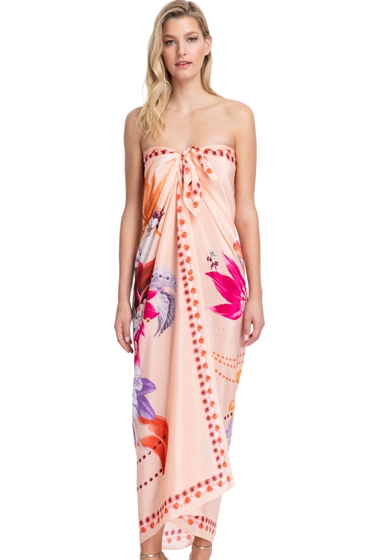 Gottex Collection Paradise Peach Full Length Pareo