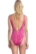 Gottex Collection Palla Raspberry Strappy Deep Plunge V-Neck One Piece Swimsuit