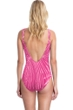 Gottex Collection Palla Raspberry Square Neck One Piece Swimsuit