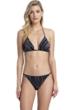 Gottex Collection Palla Black and White Triangle Bikini Top with Matching Bikini Bottom