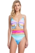 Gottex Collection Piruleta Tie Front V-Neck One Piece Swimsuit