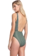 Gottex Collection Retro Revival Green V-Neck Cut Out Tie Front One Piece Swimsuit