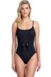Gottex Collection Vogue Black Round Neck One Piece Swimsuit