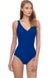 Gottex Essentials Aphrodite Deep Sea Full Coverage Surplice One Piece Swimsuit