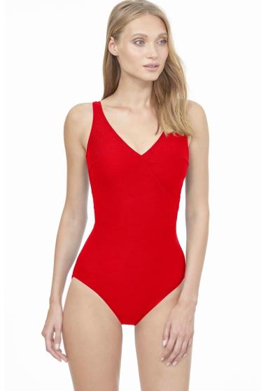 Gottex Essentials Aphrodite Full Coverage Surplice One Piece Swimsuit