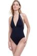 Gottex Burlesque V-Neck Halter One Piece Swimsuit