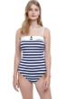 Gottex Collection Chic Nautique Bandeau One Piece Swimsuit