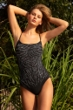 Gottex Exotica Shaped Neck One Piece Swimsuit