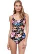 Gottex Flora Shaped Square Neck One Piece Swimsuit