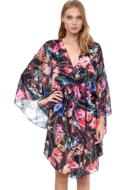 Gottex Flora Short Caftan Cover Up Dress