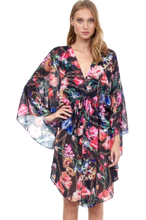 Gottex Flora Short Caftan Cover Up Dress