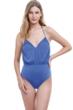 Gottex Front Row Halter Blouson One Piece Swimsuit