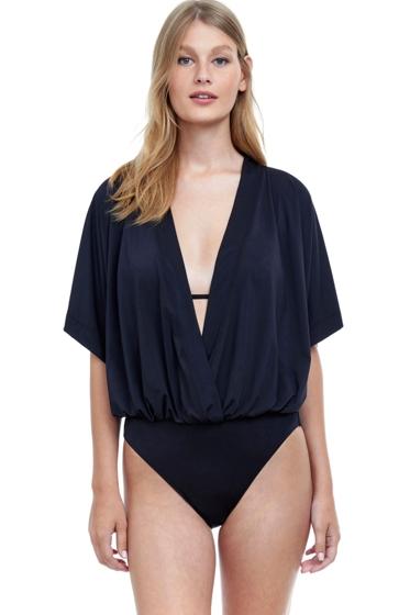 Gottex Flirtation V-Neck Blouson One Piece Swimsuit