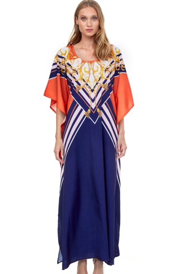 Gottex Collection Gala Cover Up Long Caftan One Size