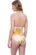 Gottex Golden Era Yellow Halter Triangle One Piece Swimsuit