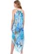 Gottex Golden Era High Neck Halter Handkerchief Cover Up Dress