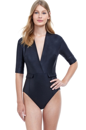 Gottex Moonlight Dance Deep V-Neck Plunge One Piece Swimsuit