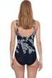 Gottex Essentials Portofino Black Full Coverage Square Neck One Piece Swimsuit