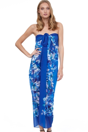 Gottex Essentials Water Spring Multi Blue Pareo